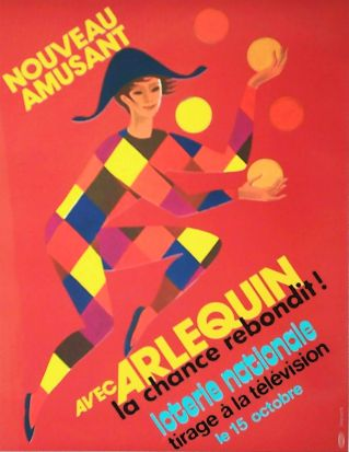 02847 Lesourt Loterie Nationale Arlequin 15 Octobre rot