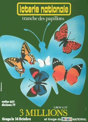 02884 Bosvieux Loterie Nationale Papillons